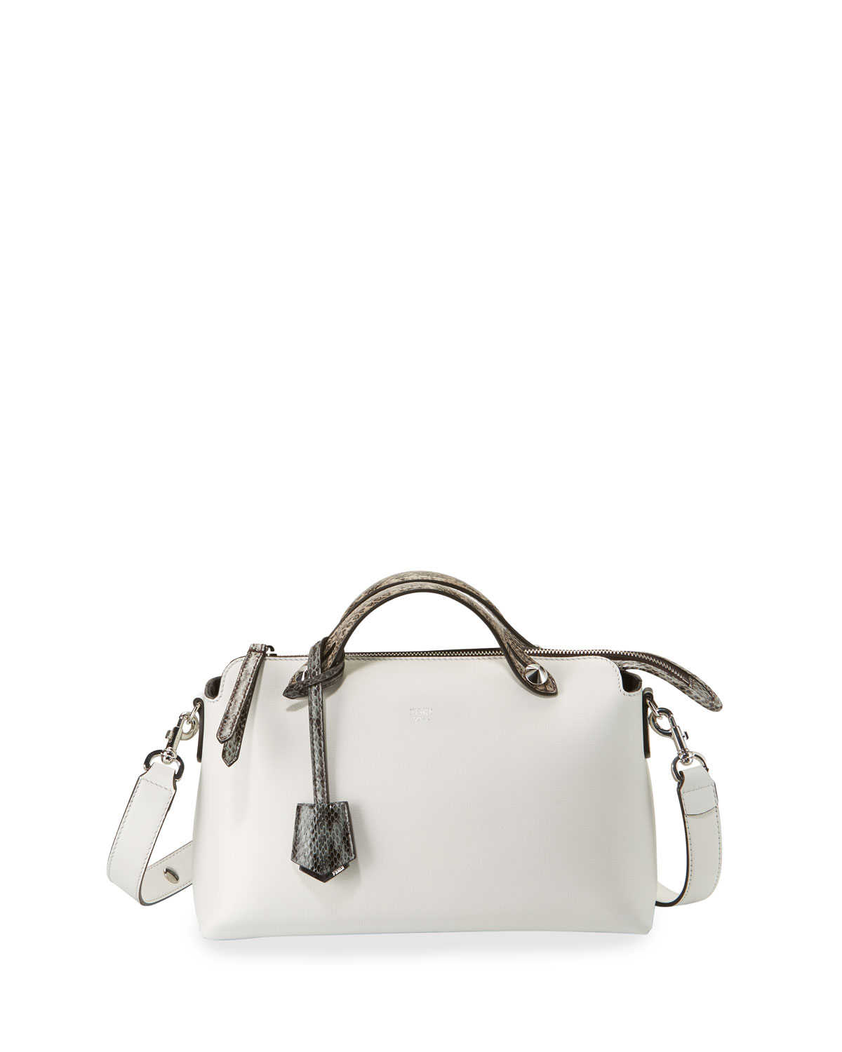 9fb6bf3d6 Fendi By the Way Small Leather & Snakeskin Satchel Bag | Neiman Marcus