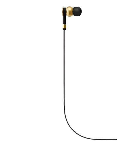 ME05 In-Ear Headphones, Brass Metal/Black Rubber