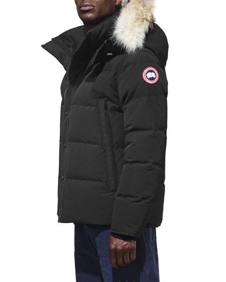 Wyndam Down Parka with Fur-Trim Hood