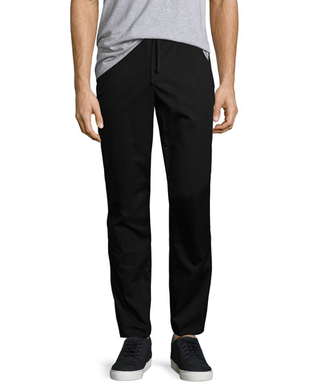 ATM Anthony Thomas Melillo Raw-Hem Drawstring Sweatpants, Black