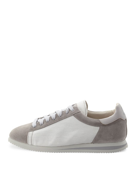 Men's Ares Suede & Canvas Running Sneakers