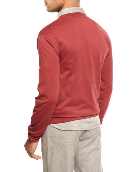 Crewneck Long-Sleeve Sweatshirt, Marble