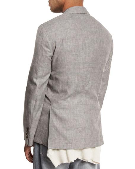 Prince of Wales Wool-Blend Sport Coat, Brown