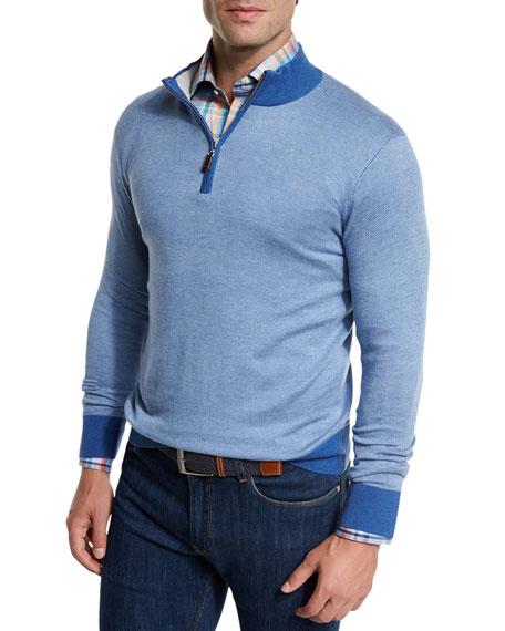 Crown Soft Quarter-Zip Birdseye Pullover Sweater