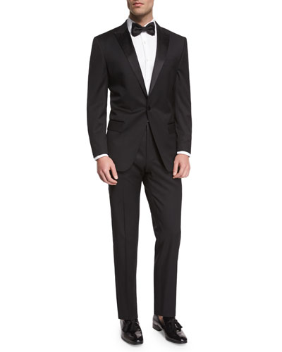 Huge Genius Peak-Lapel Slim Tuxedo  Black