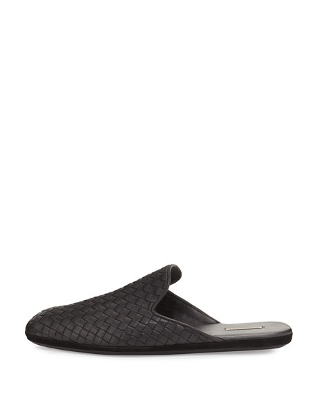 Leather Intrecciato Slip-On Shoe
