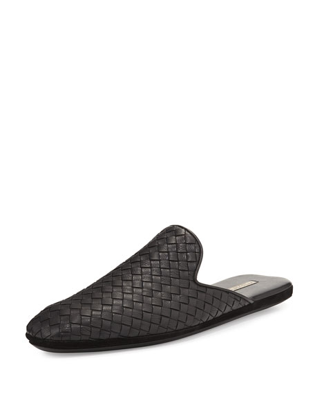 Bottega Veneta Leather Intrecciato Slip-On Shoe