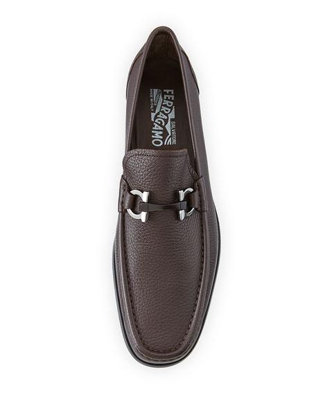 Men's Textured Calfskin Gancini Loafer