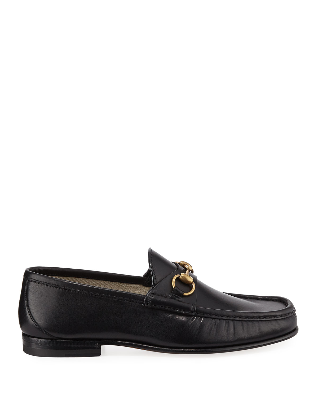 df1235ddb Gucci Men's Leather Horsebit Loafers   Neiman Marcus