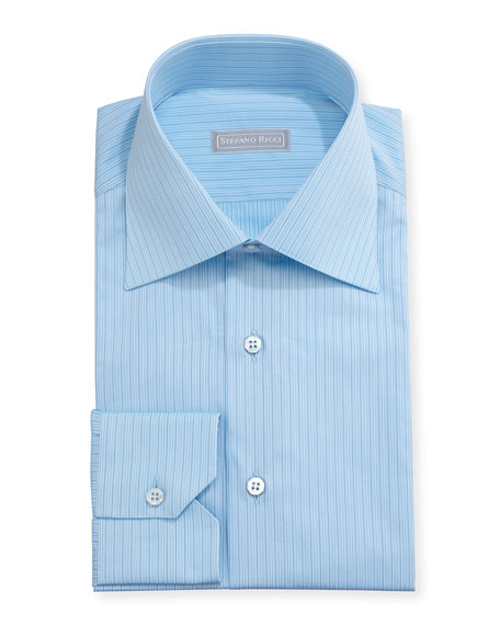 Stefano Ricci Striped Cotton Dress Shirt