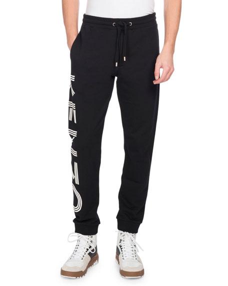 Kenzo Logo-Print Jogger Pants, Black