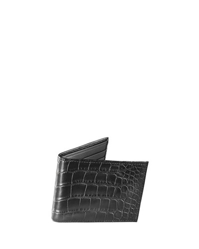 Neiman Marcus Alligator Bi-Fold Wallet