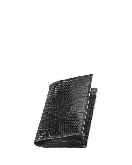 Neiman Marcus Lizard Business Card Case
