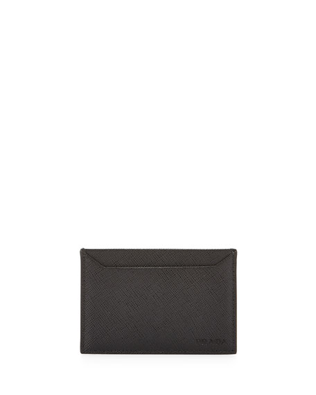 Prada Leather Card Case, Black