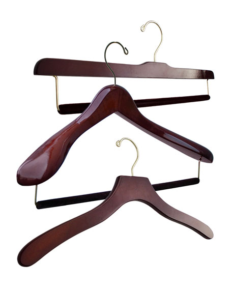 The Hanger Project Luxury Wooden Hanger Set