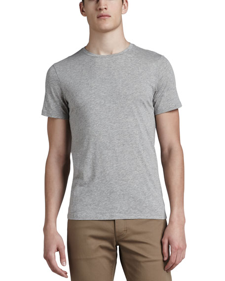 Crewneck T-Shirt,  Light Heather Gray