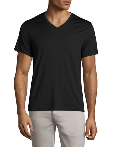V-Neck Silk-Cotton Tee