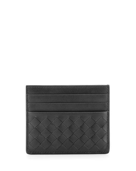 Intrecciato Leather Card Case
