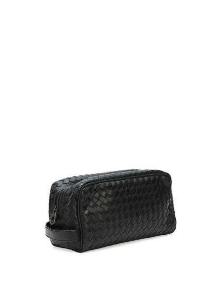 Woven Leather Toiletry Kit