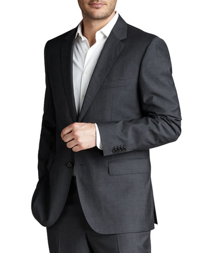 Basic Two-Button Suit, Charcoal
