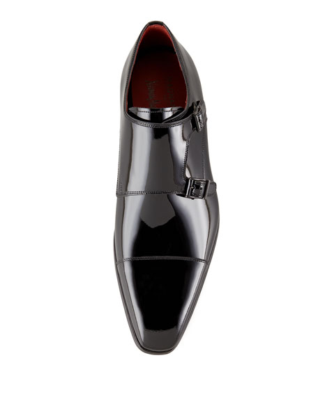Patent Double-Monk Loafer
