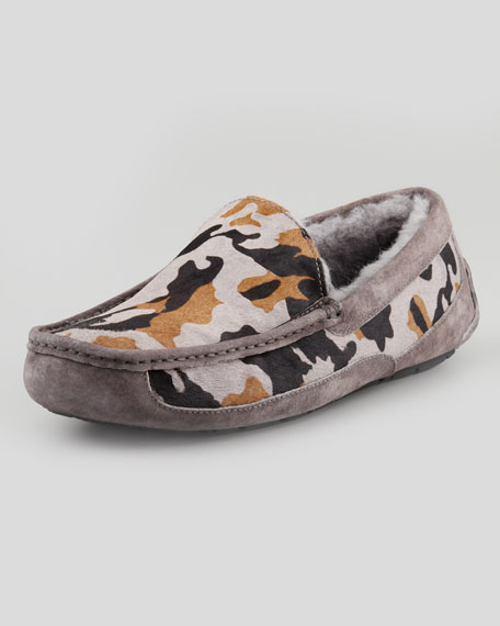 Camo Ascot Slipper, Gray