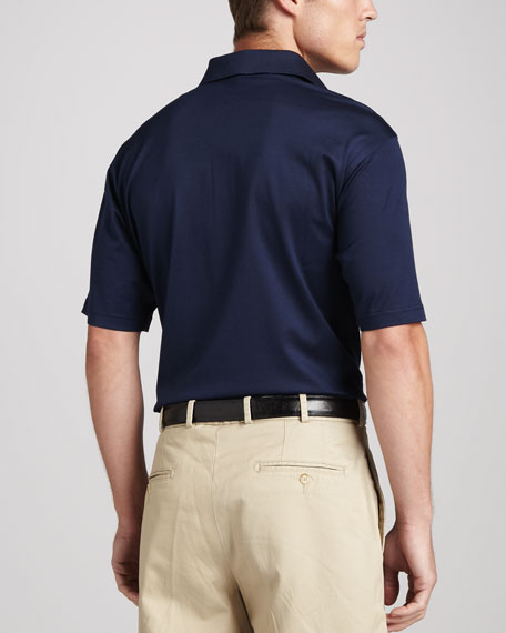 Michigan Gameday College Shirt Polo, Blue