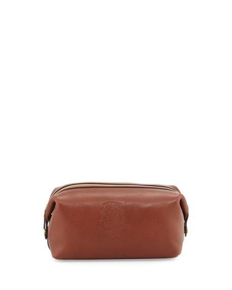 Ghurka Leather Travel Kit, Vintage Chestnut