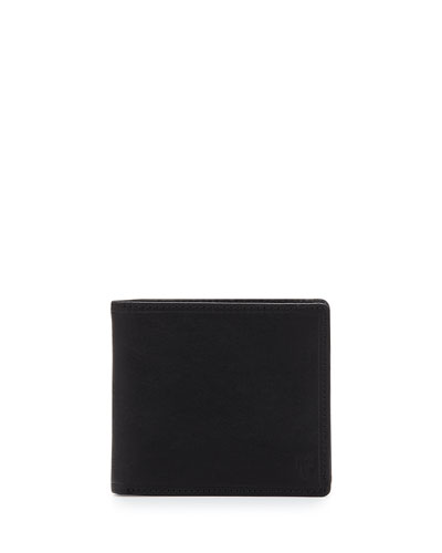 Logan Leather Bi-Fold Wallet, Black