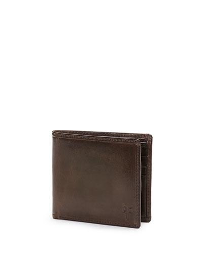 Logan Leather Bi-Fold Wallet, Cognac