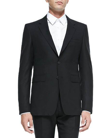 Burberry Modern-Fit Wool Suit, Black