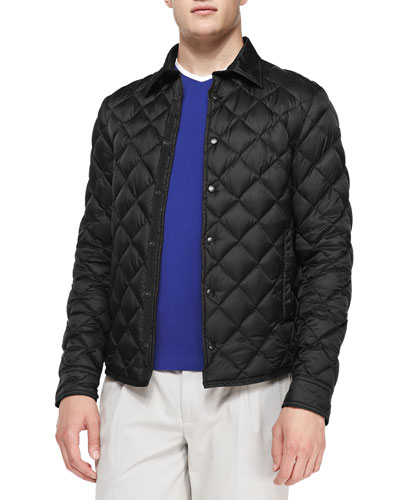 Frederic Diamond Quilted Jacket, Black