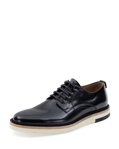 Hunting Lace-Up Shoe, Black