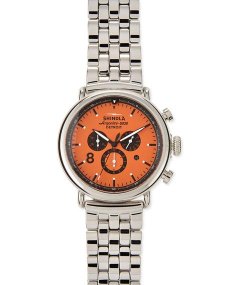 47mm Runwell Men's Watch, Black/Tan