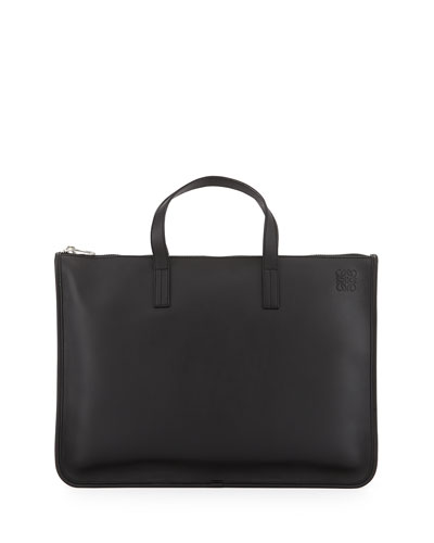 Toledo Leather Briefcase, Black