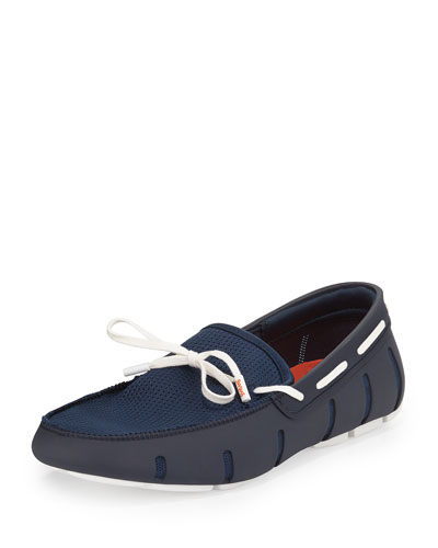 Water-Resistant Sneaker Loafer, Navy/White