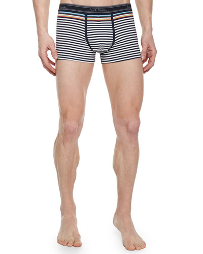 Striped Trunks, White/Multi