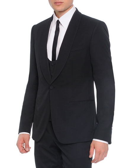 Dolce & Gabbana 3-Piece Shawl-Collar Suit