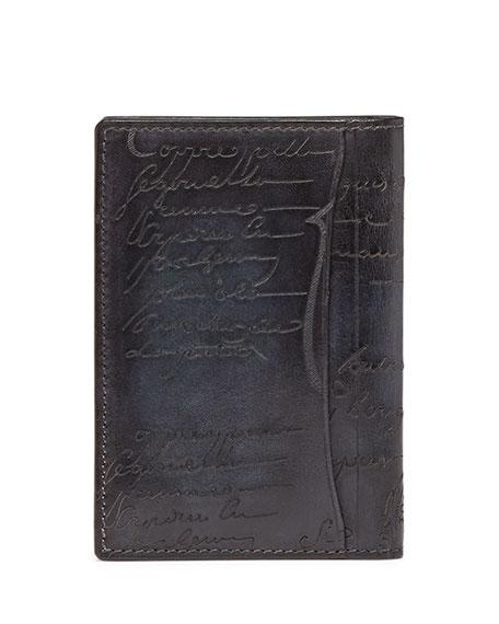 Scritto Bi-Fold Card Case, Black