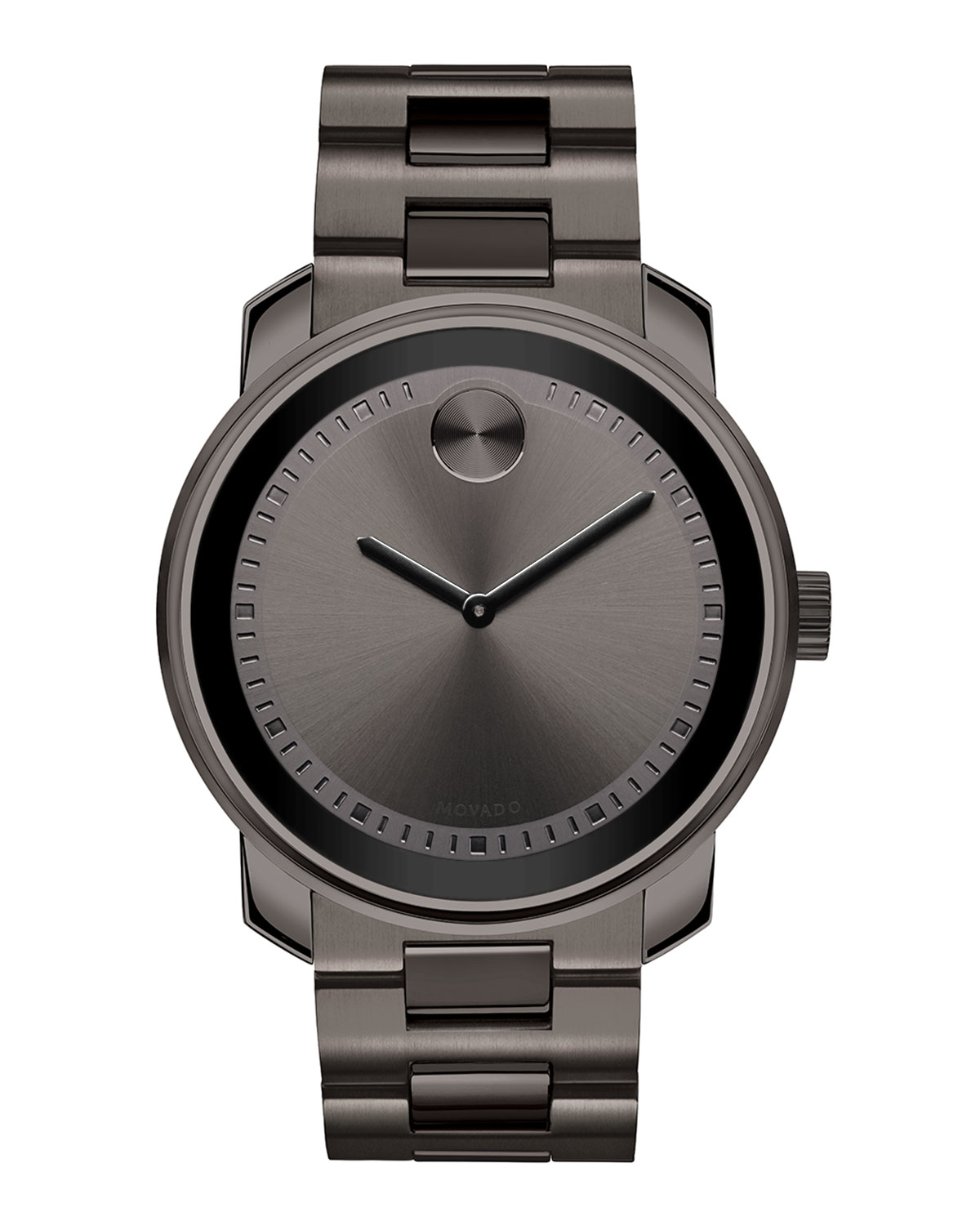 065b99b28 Movado Bold 42.5mm Gunmetal Stainless Steel Watch | Neiman Marcus