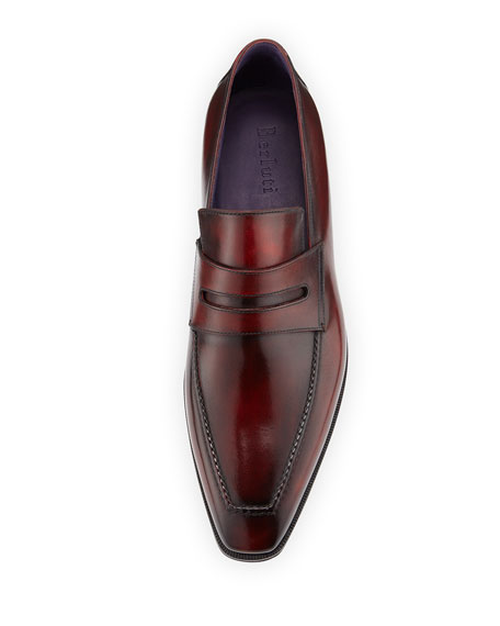 Berluti Andy Burnished Leather Loafer