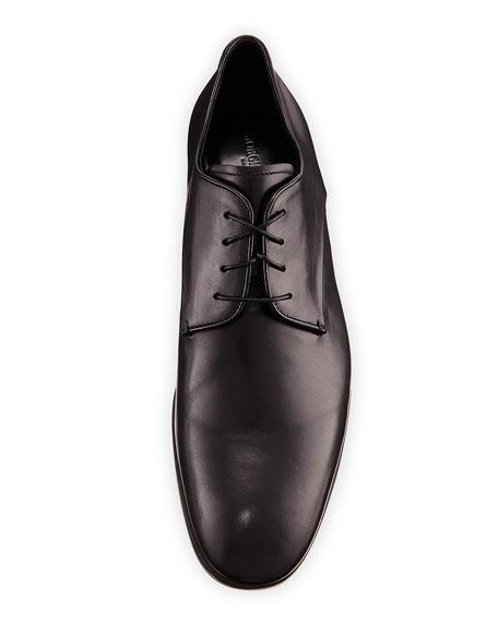 Rubber-Bottom Dress Oxford, Black