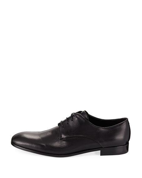 Rubber-Bottom Dress Oxford, Black