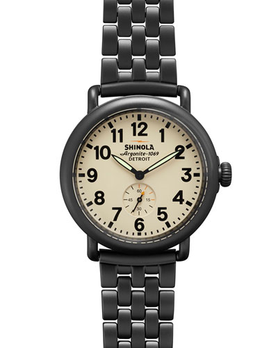41mm Runwell Chain Watch, Gunmetal