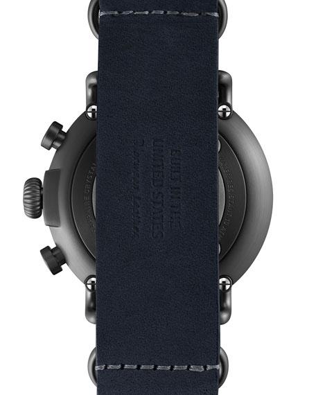 47mm Runwell Chronograph Nylon Watch, Navy