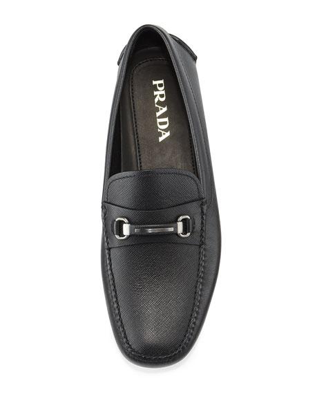 Saffiano Leather Driver, Black