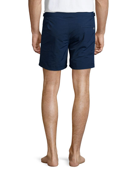 Bulldog Solid Swim Trunks, Navy