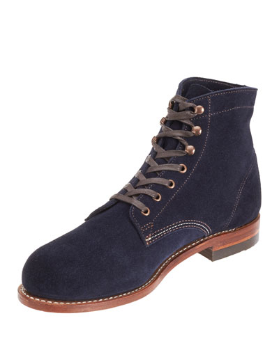 1000 Mile Suede Boots, Navy