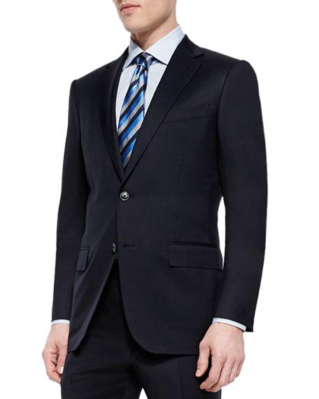c21974b95a5ec9 Ermenegildo Zegna Solid Two-Piece Suit, Navy | Neiman Marcus
