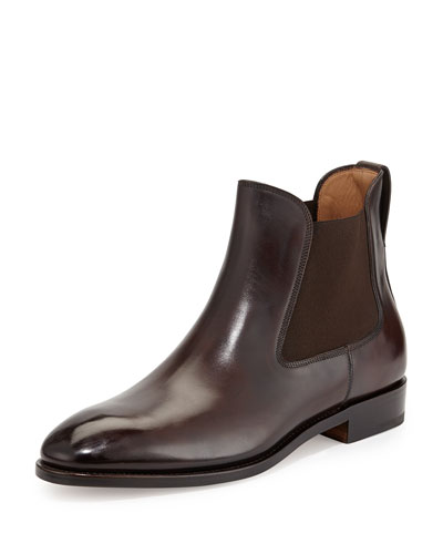 Marrico Leather Chelsea Boot, Chocolate